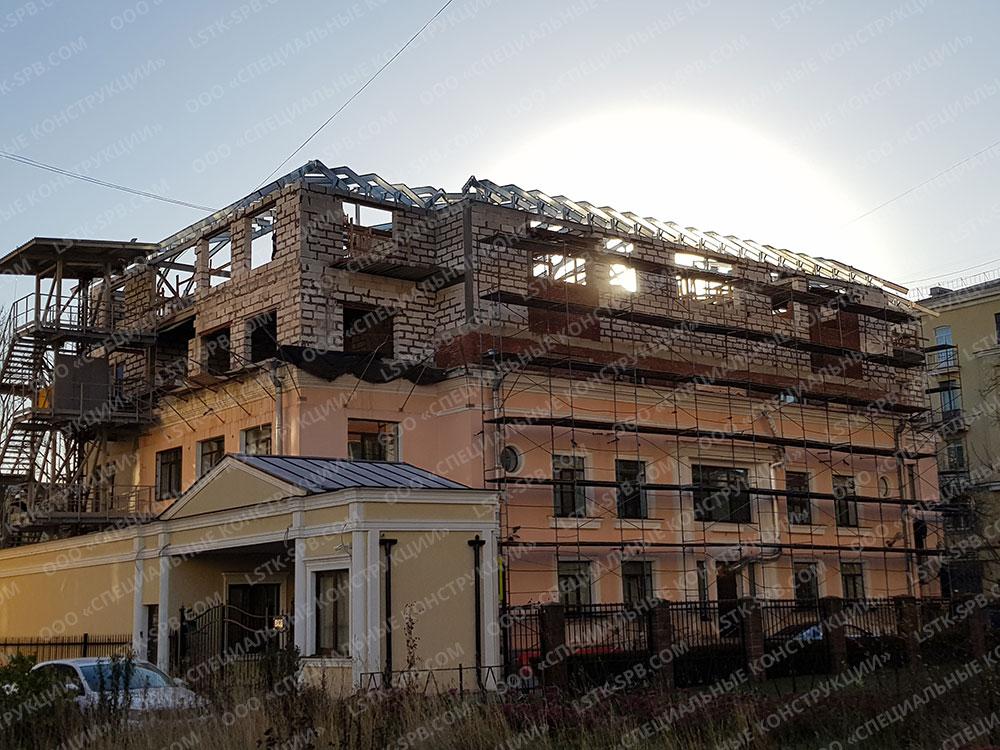 Каркас мансарды на ул. Глазурной
